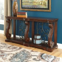 Alymere Rustic Brown Sofa Table