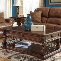 Alymere Rustic Brown Accent Table Set