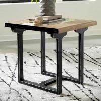 Calkosa Brown/Black Rectangular End Table