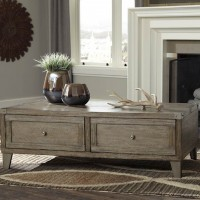 Chazney Rustic Brown Accent Table Set
