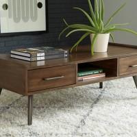 Calmoni Brown Accent Table Set