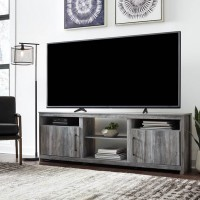 Baystorm Gray XL TV Stand with Fireplace Option