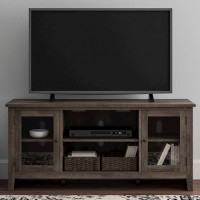 Arlenbry Gray LG TV Stand with Fireplace Option