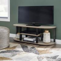 Bertmond Light Brown/Black TV Stand