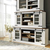 Wystfield White/Brown Entertainment Unit