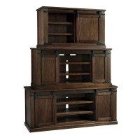 Budmore Rustic Brown Entertainment Unit