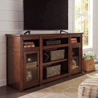 Harpan Reddish Brown Entertainment Unit