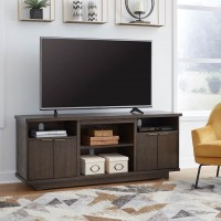 Brazburn Dark Brown LG TV Stand with Fireplace Option