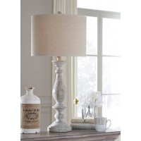 Bernadate Whitewash Poly Table Lamp (Includes 2)