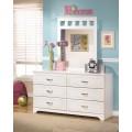 Lulu White Bedroom Mirror