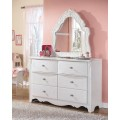 Exquisite White French Style Bedroom Mirror