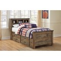 Trinell Brown Under Bed Storage with Side Rail