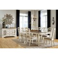 Realyn Chipped White Dining Room Set